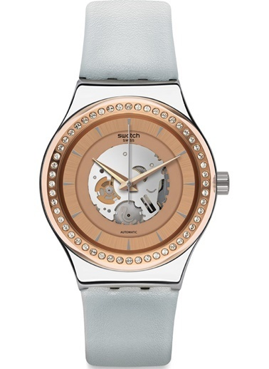 Swatch YIS415 Sistem 51 Irony Otomatik Taşlı Saat Gri